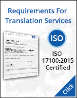 Requirements for Translation Services ISO 17100:2015